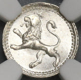 1866 NGC MS 66 Guatemala 1/4 Real Lion GEM Mint State Silver Coin (19082002D)