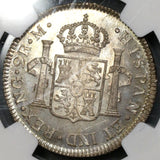 1819-NG NGC MS 64 Guatemala 2 Reales Colonial Spain Silver Mint State Coin (19080202C)