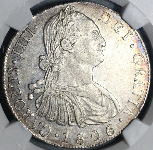 1806 NGC AU 55 Guatemala 8 Reales Spain Colony Silver Coin POP 2/3 (20110502C)