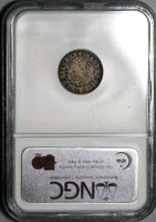 1866 NGC AU 55 Hong Kong 10 Cent Silver Britain Empire Coin (20021402C)