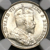 1904 NGC MS 66 Hong Kong 5 Cents Mint State China Silver Britain Empire Coin (20051201C)