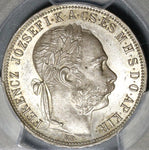1887 PCGS MS63 Hungary 1 Forint Silver St Stephan Crown Coin POP 1/0 (21032103C)