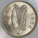 1955 NGC MS 66 Ireland 1/2 Crown Race Horse Mint State Irish Coin (19091104C)
