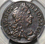 1680 PCGS VF Det Ireland 1/2 Penny Charles II Copper  Coin (20052904C)