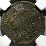 1689 NGC VF Det James II Ireland Shilling August Gun Money Coin (19082303C)