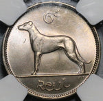 1948 NGC MS 65 Ireland 6 Pence Irish Wolfhound Mint State Coin (19091101C)