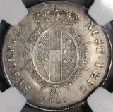 1845 NGC AU Tuscany Paolo Italy State Silver Coin (18061303C)