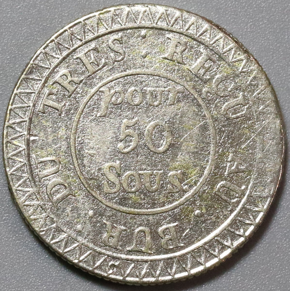 1822 Mauritius 50 Sous Contemporary Imitation Coin (19092402R)