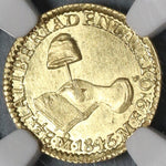 1845-Mo MS 63 Mexico Gold 1/2 Escudo Mint State Coin POP 1/2 (20011001C)