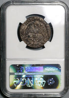 1867 NGC AU 55 Mexico 1/4 Real San Luis Potosi Copper Coin POP 1/1 (16052302D)
