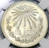 1927 NGC MS 64 Mexico 1 Peso Silver Key Date Mint State Coin (19111204C)