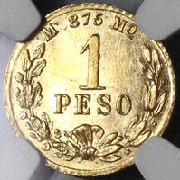 1882/72-Mo NGC MS 62 Mexico Gold 1 Peso Coin Rare Mint State Coin (19103001C)