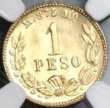 1904-Mo NGC MS 65 Mexico Gold 1 Peso Mint State Coin Only 9845 Minted (19102701D)