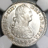 1799 NGC MS 63 Mexico 1 Real Colonial Spain Silver Coin POP 4/1 (20072002D)