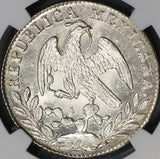 1861-Mo NGC MS 65 MEXICO 2 Reales Silver Proof Like Surfaces Coin (18071701C)
