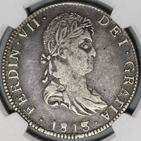 1813/2-Ga NGC VF 35 War Independence Mexico 8 Reales Guadalajara Coin (21020802C)