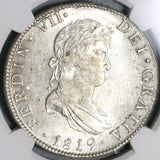 1819-Mo NGC MS 61 Mexico Silver 8 Reales Spain Colonial Silver Coin (20061201D)