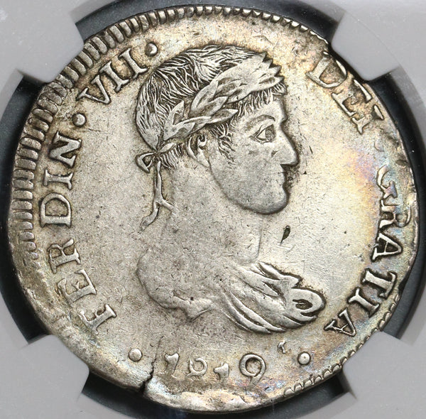 1819-D NGC XF Det Mexico 8 Reales War Independence Durango Silver Coin (20111502C)