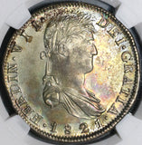 1821-Zs NGC AU 58 War Independence Mexico 8 Reales Silver Coin (20050903C)