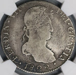 1822-D NGC VF 25 Mexico 8 Reales Durango War Independence Silver Coin (21010204C)