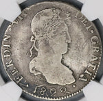1822-D NGC VF 25 War Independence Durango 8 Reales Mexico Silver Coin (18072804C)