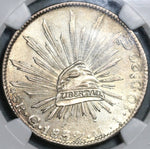 1832-Go NGC MS 62 Mexico 8 Reales Guanajuato Silver Mint State Coin (21021802C)