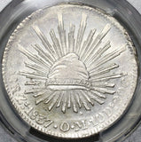 1837-Zs PCGS MS 62 Mexico 8 Reales Zacatecas Silver Rare Coin POP 2/0 (20100901C)
