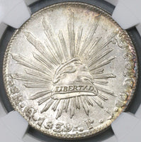 1839-Go NGC MS 63 Mexico 8 Reales Guanajuato Silver Coin POP 6/4 (18111202C)