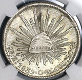 1839-Zs NGC MS 62 Mexico 8 Reales Rare Silver Mint State Coin POP 5/0 (20011701C)