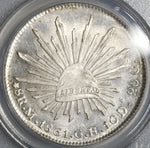 1861-Mo PCGS MS 62 Mexico 8 reales Silver Mint State Coin (19061502C)