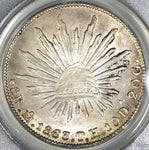 1863-Mo TH PCGS MS 63 Mexico 8 Reales Mint State Silver Coin (19082504C)