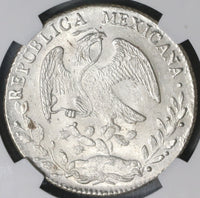 1863-Pi NGC MS 63 Mexico 8 Reales Potosi Mint State Silver Coin (19020603C)
