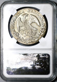 1874-A NGC AU 58 Mexico 8 Reales Scarce Alamos Mint Silver Coin (20110903C)