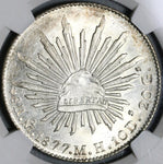 1877-Mo NGC MS 64 Mexico 8 Reales Mint State Silver Coin POP 4/1 (21040202D)