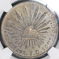 1878-Cn NGC MS 63 Mexico 8 Reales Rare Assayer Error POP 1/1 (19030802C)