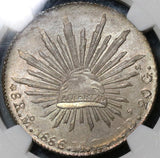 1886-Mo NGC MS 64 Mexico 8 Reales Mint State Silver Coin (20081503C)