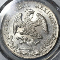 1890-Ga PCGS MS 62 Mexico 8 Reales Guadalajara Mint State Silver Coin (21011501D)