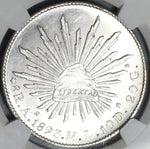 1893-As NGC MS 63 Mexico 8 Reales Coin Mint State Alamos Silver Coin (19111701C)