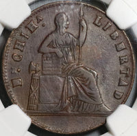1860 NGC VF 35 Mexico Chihuahua 1/4 Real Un Quarto Seated Liberty Coin (20070502R)