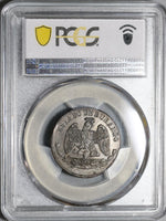 1872 PCGS MS 63 Durango State Mexico 1/4 Real Coin POP 2/0 (20022303C)