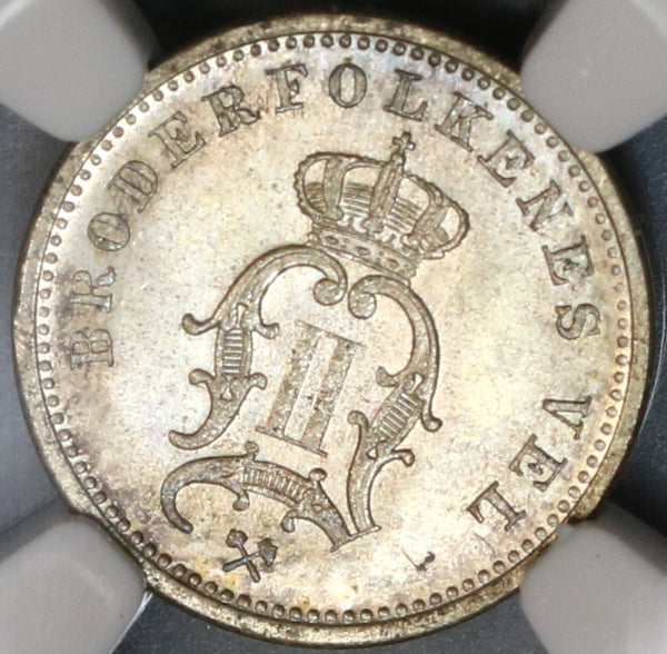 1897 NGC MS 65 Norway 10 Ore Oscar II Silver Mint State Coin (19091205C)