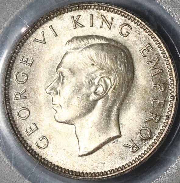 1946 PCGS MS 64 New Zealand Shilling Mint State Last Silver Coin (20012303C)