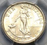 1917-S PCGS MS 64 Philippines 10 Centavos Mint State Silver Coin (19101801C)