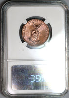 1938-M NGC MS 65 RB Philippines 1 Centavo Mint State Coin (19092202C)