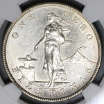 1903-S NGC AU Det Philippines Peso Silver Coin (19082301R)