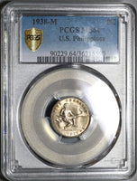 1938 PCGS MS 64 Philippines 5 Centavos Mint State USA Coin (19101802C)