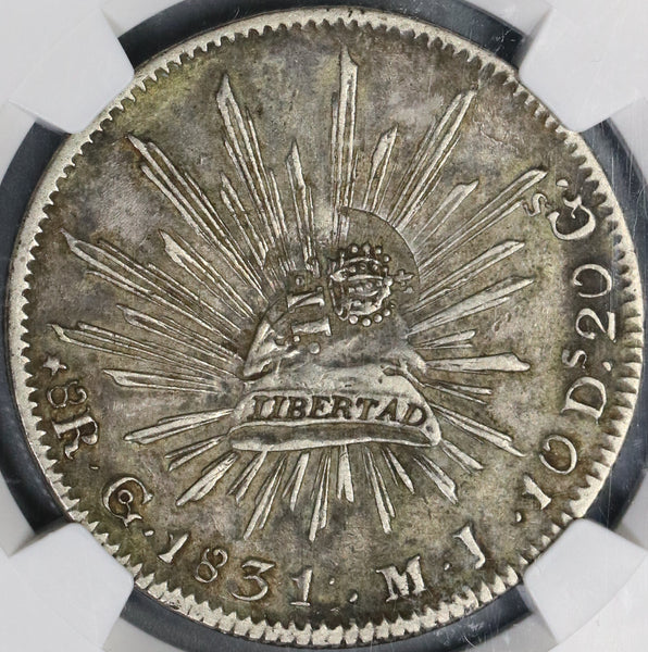 1837 NGC VF 30 Philippines Counterstamp on Mexico 1831-Go 8 Reales Coin (19061801C)