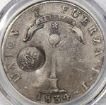 1834 PCGS VF Det Philippines Double Counterstamp Chile 8 Reales (18120502C)