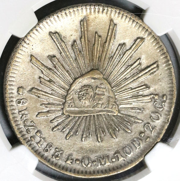 1837 NGC VF Det Philippines Counterstamp Mexico 1834-Zs 8 Reales Silver Coin (19102201C)