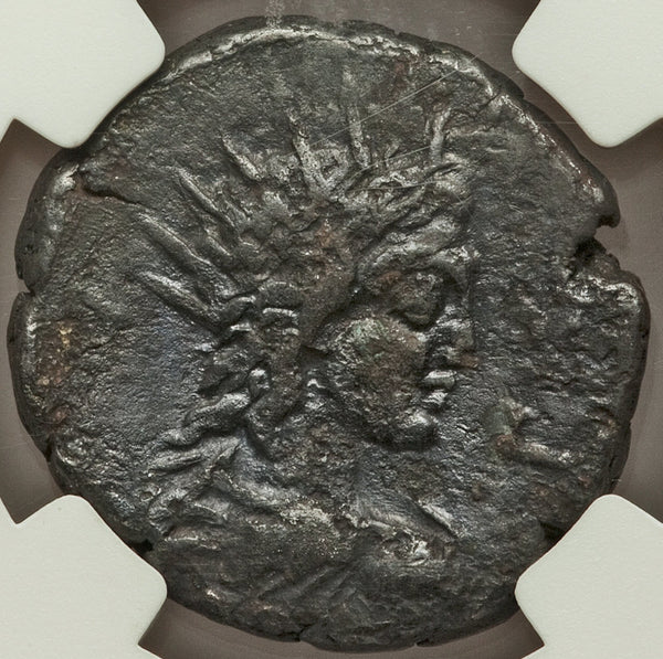189 NGC VF Commodus Alexandria Roman Egypt Tetradrachm Helios Head (18102503C)